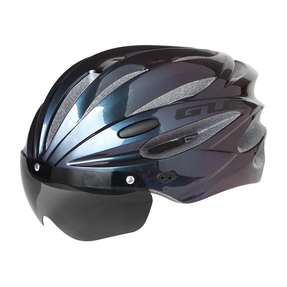 GUB-Casco para Ciclismo K80, con gafas EPS, Casco de bicicleta de carretera de montaña, para hombre y mujer