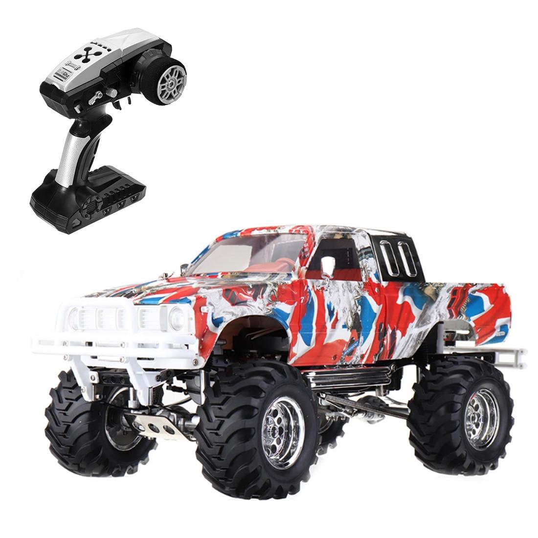 HG-P407 110 4WD 2,4G coche de Control remoto camioneta todoterreno para niños juguetes educativos-negro EU US Plug Graffiti Edition