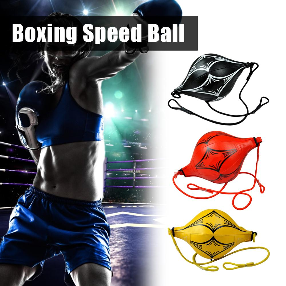 Quality PU Leather Punching Ball Pear Boxing Bag Inflatable Reflex Speed Balls Fitness Training Double End Boxing Speed Ball