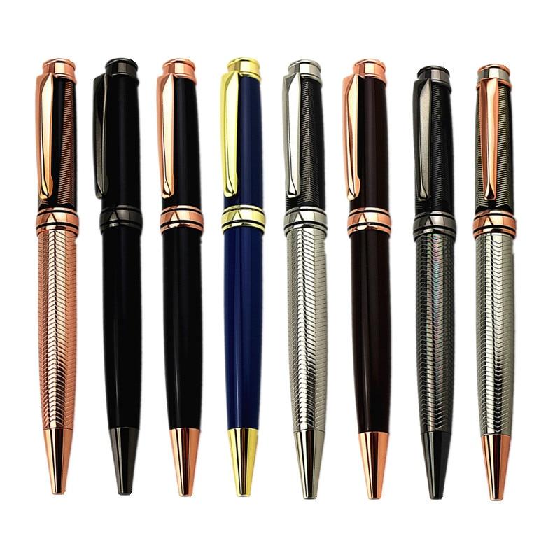 Luxury Rose Gold Pen Metal Ballpoint Advertising &office Supplies Writing Pens