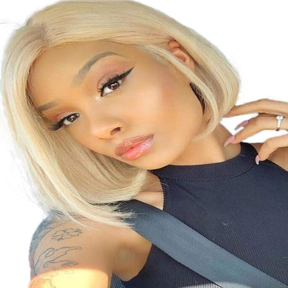 Pelucas de cabello humano Ash Blonde Mixed 613 360, Peluca de pelo humano Frontal de encaje 13x6, peluca Frontal de encaje 370, peluca rizada para mujeres con pelo de bebé