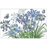 blue flower patterns counted cross stitch 11ct 14ct 18ct diy wholesale chinese cross stitch kits embroidery needlework sets