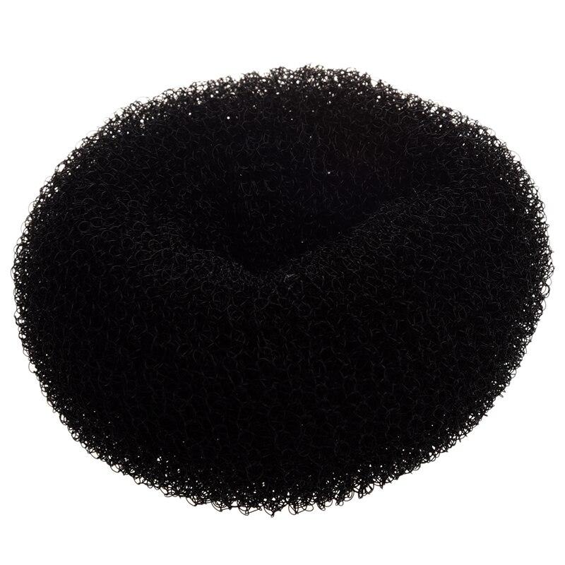 Pelo de moño negro FORMER rosquilla SHAPER RING STYLER diámetro de la peluquería 9cm
