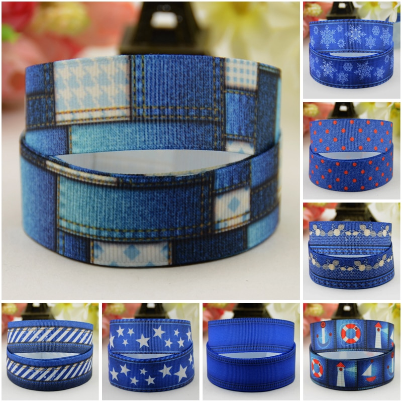 """AliExpress - 7/8"""" 22mm,1″ 25mm,1-1/2″ 38mm,3″ 75mm New Jeans style Cartoon Character printed Grosgrain Ribbon party decoration 10 Yards"""