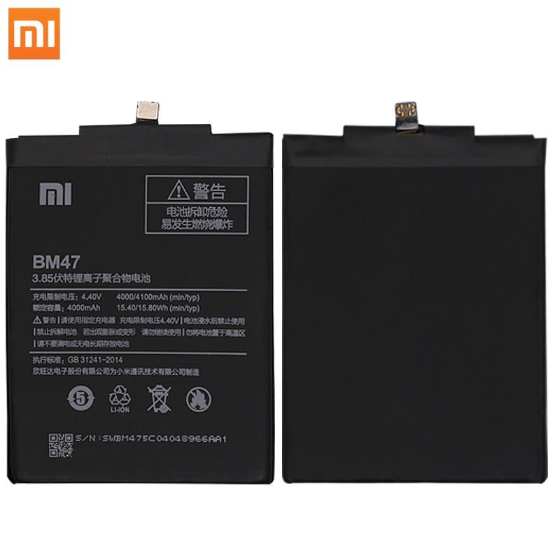 Original Xiaomi Redmi 3 3S 3X 3 Pro 4X Phone Batterries BM47 High Capacity Rechargeable Phone Battery 4100mAh Free Tools AKKU enlarge