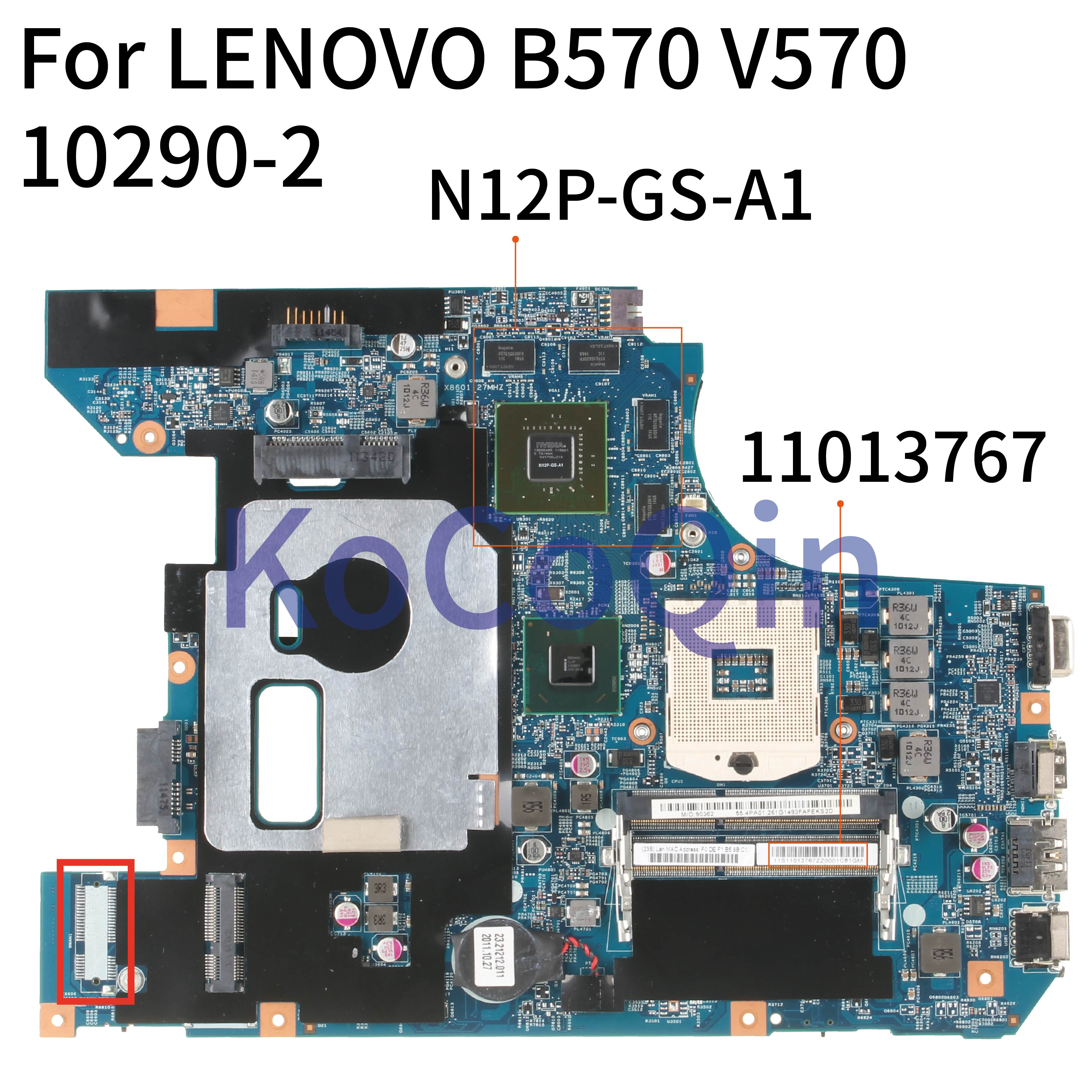 KoCoQin اللوحة المحمول لينوفو Z570 GT540M 2GB HM65 اللوحة 10290-248.4PA01.021 11013767 N12P-GS-A1