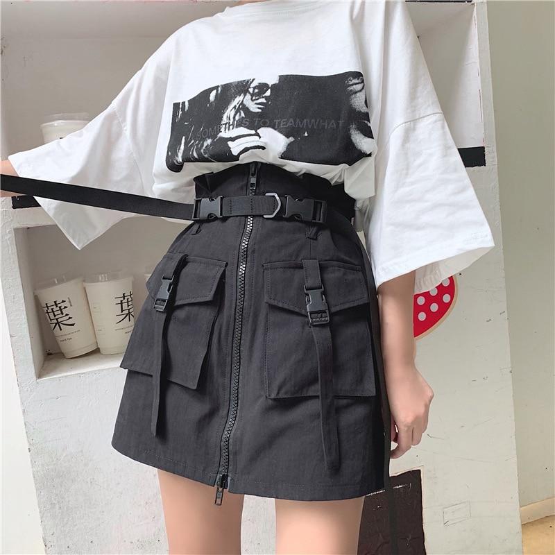 2020 verano fuego sexy vintage pokemon dropshipping estilo Harajuku era delgada cintura alta una palabra falda womenAll-matchskirt falda