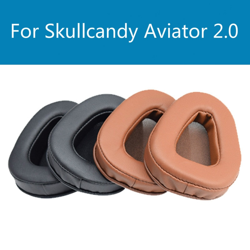 XQ  The headphones replace the foam cushion of Skullcandy Aviator 2.0 ear pads with soft protein sponge sleeves for comfort