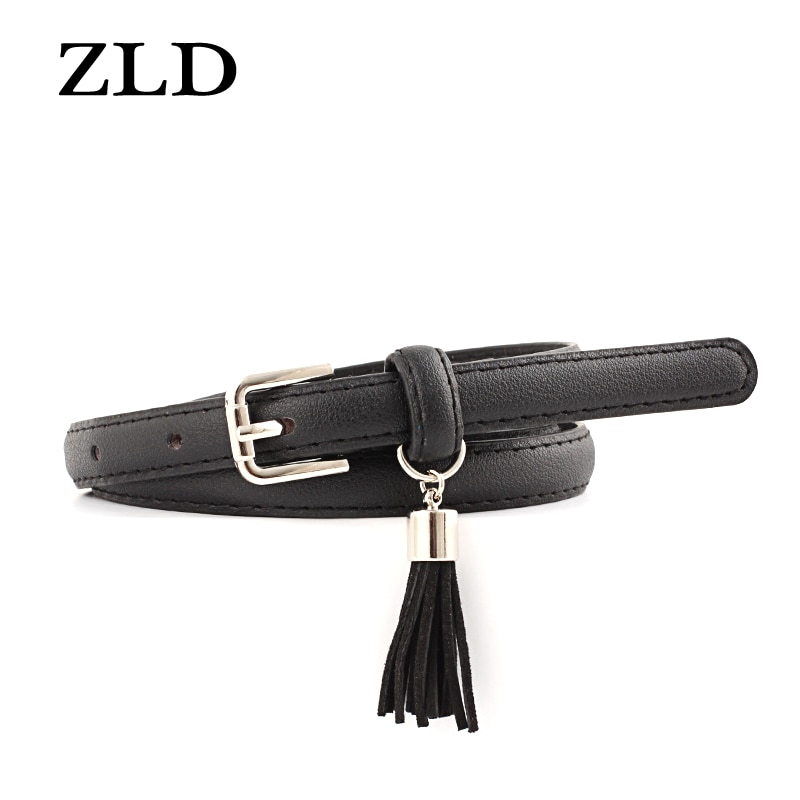 ZLD Fashion high quality Women's belts Beautiful pendant multicolor ladies vintage pin buckle Strap Casual thin belt female