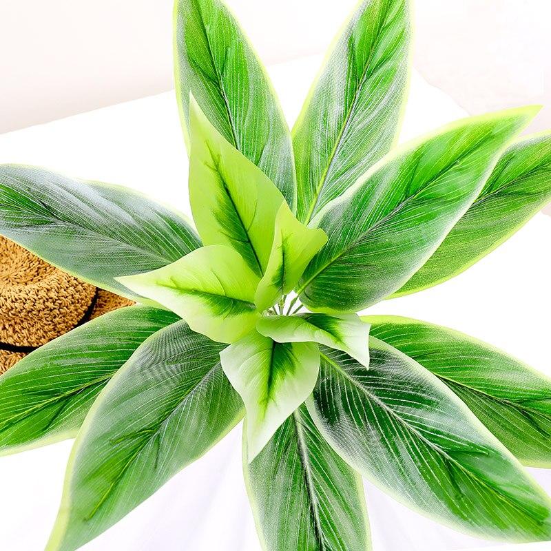 Ramo de plantas falsas de plástico de hojas verdes de 65cm, material de pared, árbol artificial, flores verdes, decoración de Navidad para boda y hogar
