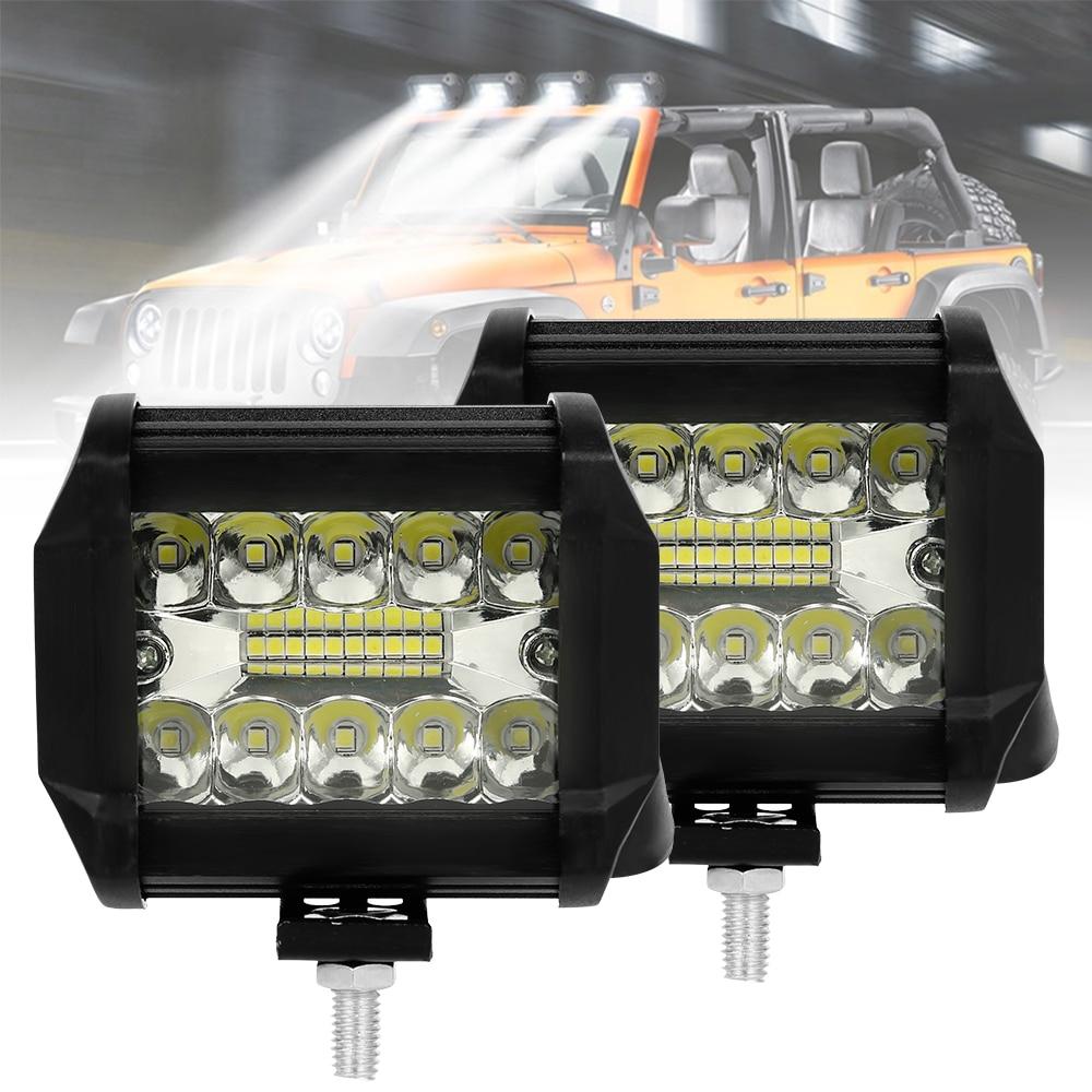 2x4 polegadas 60w 120w barra conduzida do carro barra clara para caminhões offroad reboque do barco trator 4x4 4wd atv carro extral luz de condução