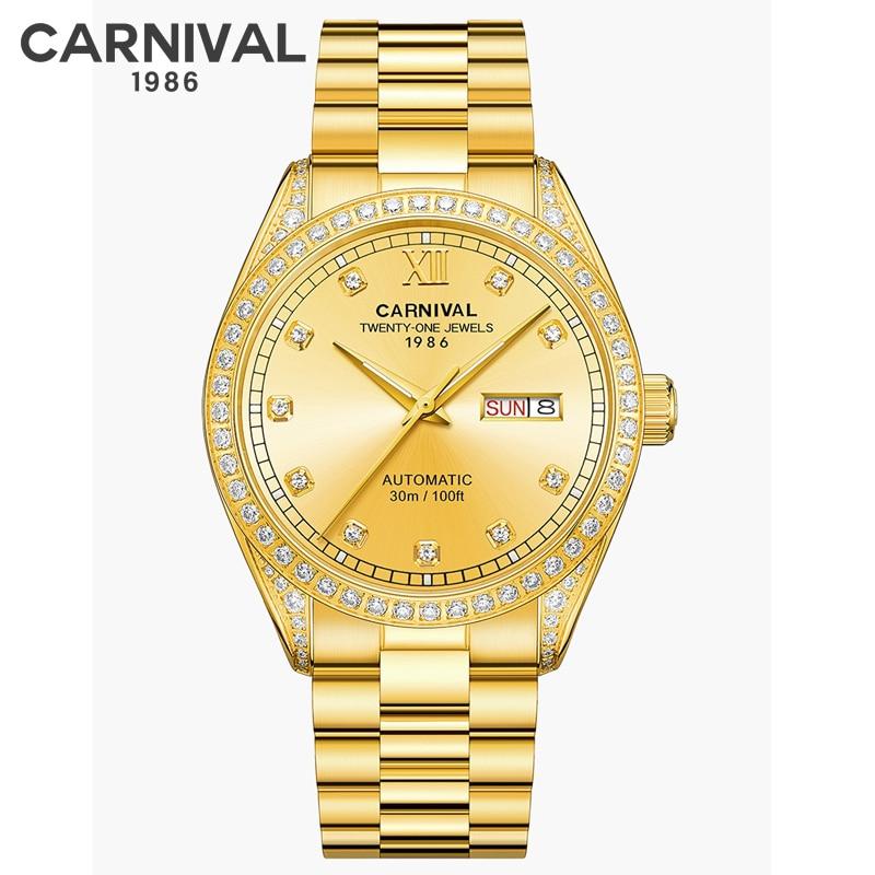 CARNIVAL Switzerland Sapphire mirror Men Sport Business Watch Top Brand Luxury Automatic Fashion MIYOTA Mechanical Watches Clock