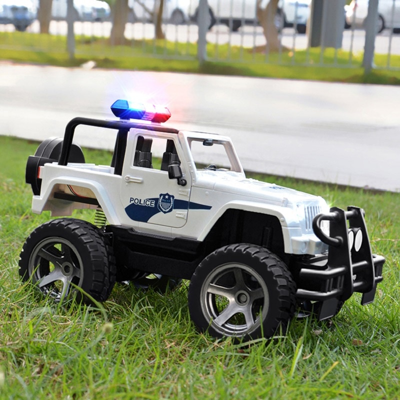 Double E 1:12 Scale Big RC Truck JEEP Police Toy car 2.4 Radio Controlled Car Electric machine Drift Buggy Toys for children boy enlarge