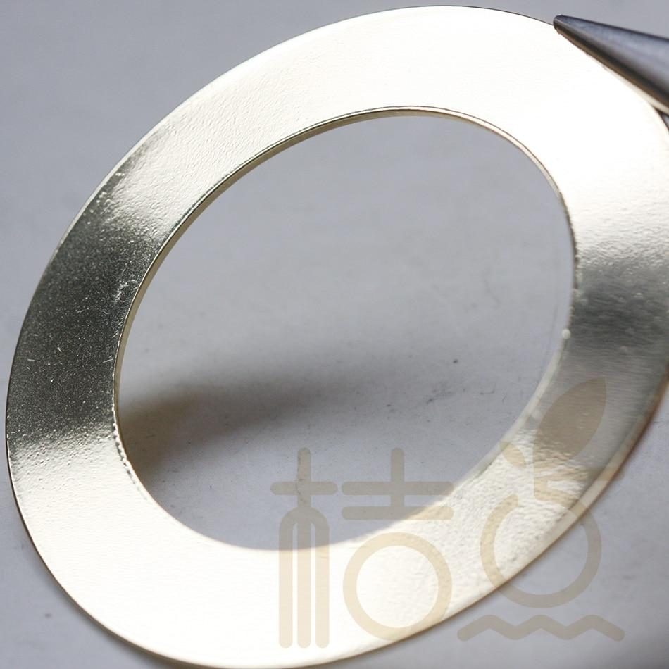 Una unidad, Base de latón, anillo plano, arandela de bucle de 60mm (3806C-V-178)