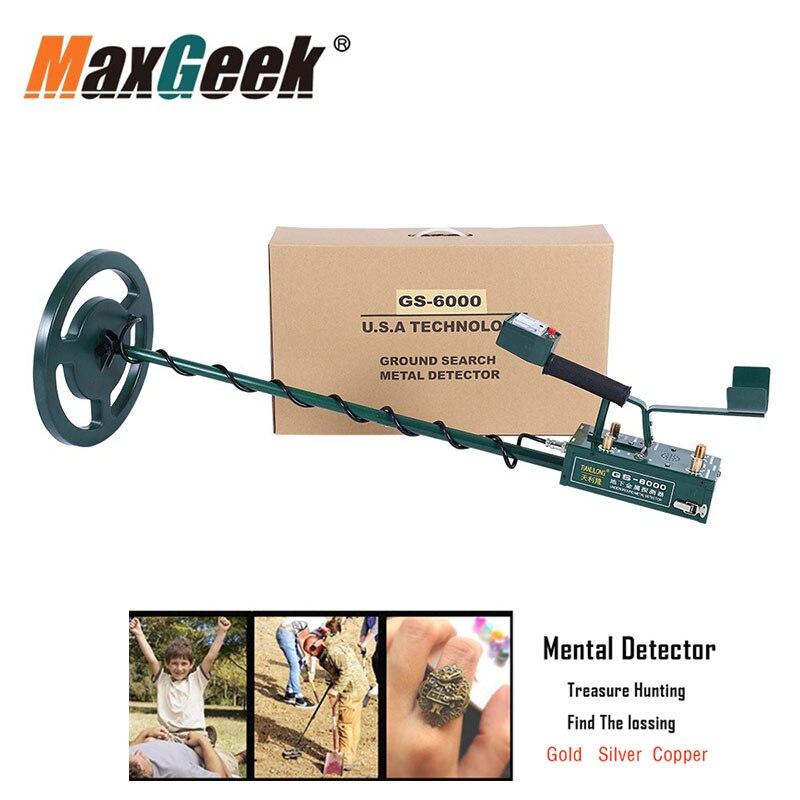Maxgeek GS-6000 Mini Underground Metal Detector Treasure Gold Silver Copper Hunter Headphone Max Depth 8.5m With LED Screen
