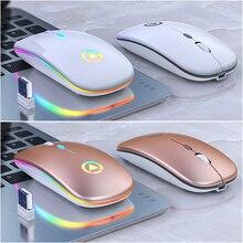 Souris ergonomique sans fil 2 en 1, double Mode, Mini souris dordinateur, optique USB, silencieuse, pour PC portable, Mac