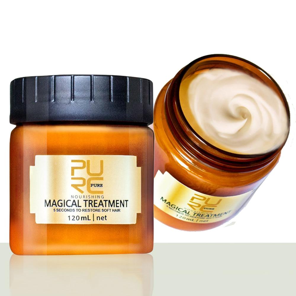 120ML mágico tratamiento máscara 5 segundos repara el daño restaurar el cabello...