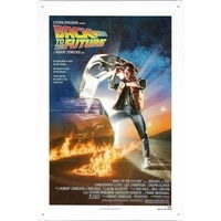 20 x 30cm back to the future movie poster home theater decor metal tin sign wall art