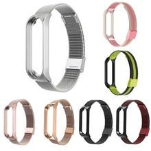 1PC Stainless Steel Bracelet For Men Women Smart Watch Wristband Metal Buckle Wrist Loop Smart Watch Band For Xiaomi Mi Band 4 3