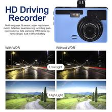 "Dash Cam Dual Lens Full HD 1080P 3"" IPS Car DVR Vehicle Camera Front+Rear Night Vision Video Recorder G-sensor Parking Mode WDR"
