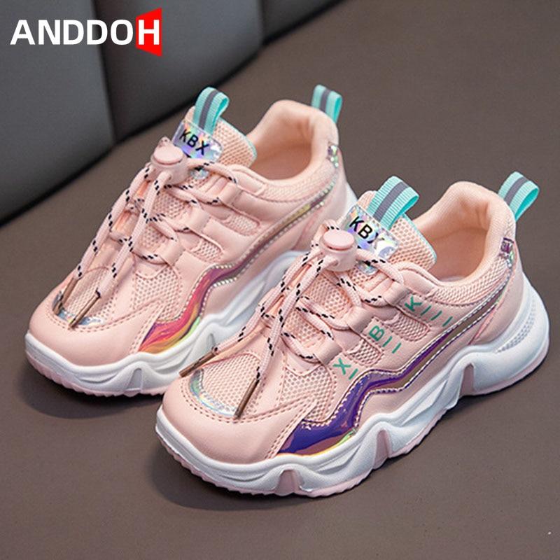 Size 26-36 Children Breathable Non-slip Mesh Running Sneakers Kids Soft Bottom Lightweight Sport Sho