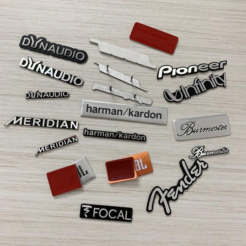 5X Алюминий для Dynaudio! JBL FOCAL harman/kardon Меридиан Fender Hi-Fi динамик аудио динамик значок стерео эмблема стикер стиль