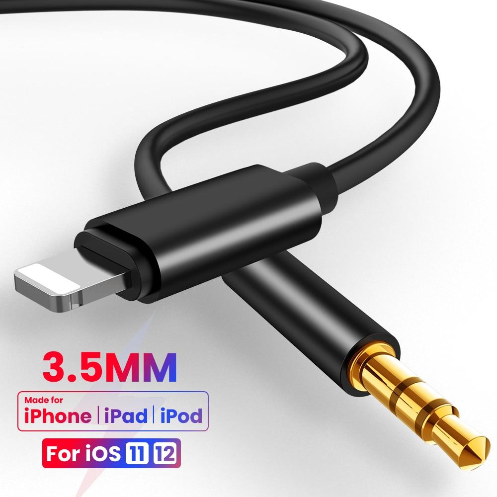 Cable auxiliar de Audio de 8 pines a 3,5mm, convertidor auxiliar de...
