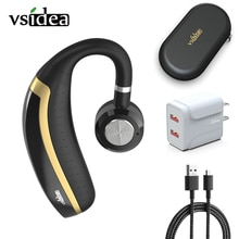 Vsidea Hanging Ear Headset Wireless Bluetooth Headphone Handsfree Calling Earbuds with 25hrs Playbac
