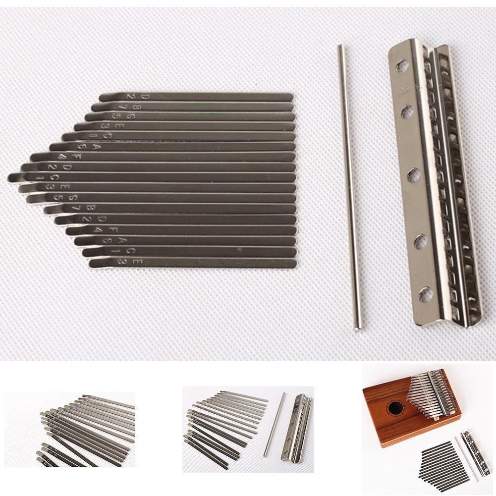 Teclado Kalimba de 17 teclas, llave Kalimba de acero manganeso, instrumento de música cromado
