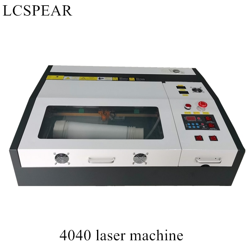 Máquina de grabado y corte láser CO2 4040 de 50W con mesa de trabajo alveolar arriba y abajo