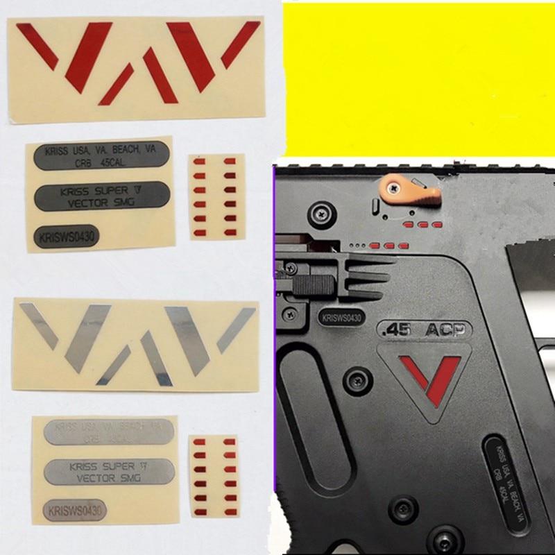 LH Vector Gen.2 Body Red Silver V + Silver Black Numbering + Red Speed Machine Metal Sticker