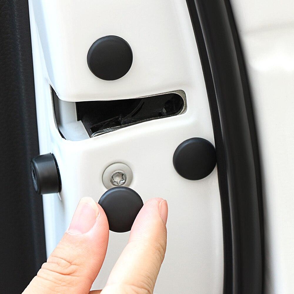 Car Door Lock Screw Protector Cover sticker for volkswagen vw t5 polo golf 7 6 5 4 golf mk4 passat b6 b5 b7 touran jetta mk6