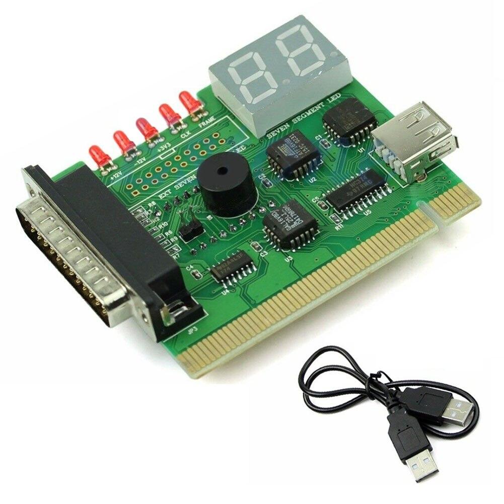 With Light PC Motherboard Tester Post Analyzer Digital Computer Display PCI Notebook USB Error Code Desktop Diagnostic Card