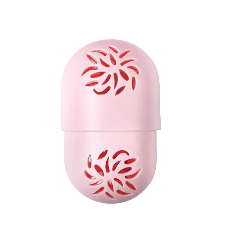 Contenedor duradero de secado de Puff a prueba de polvo en forma de cápsula de silicona suave ahuecada Flexible soporte para esponja de maquillaje funda