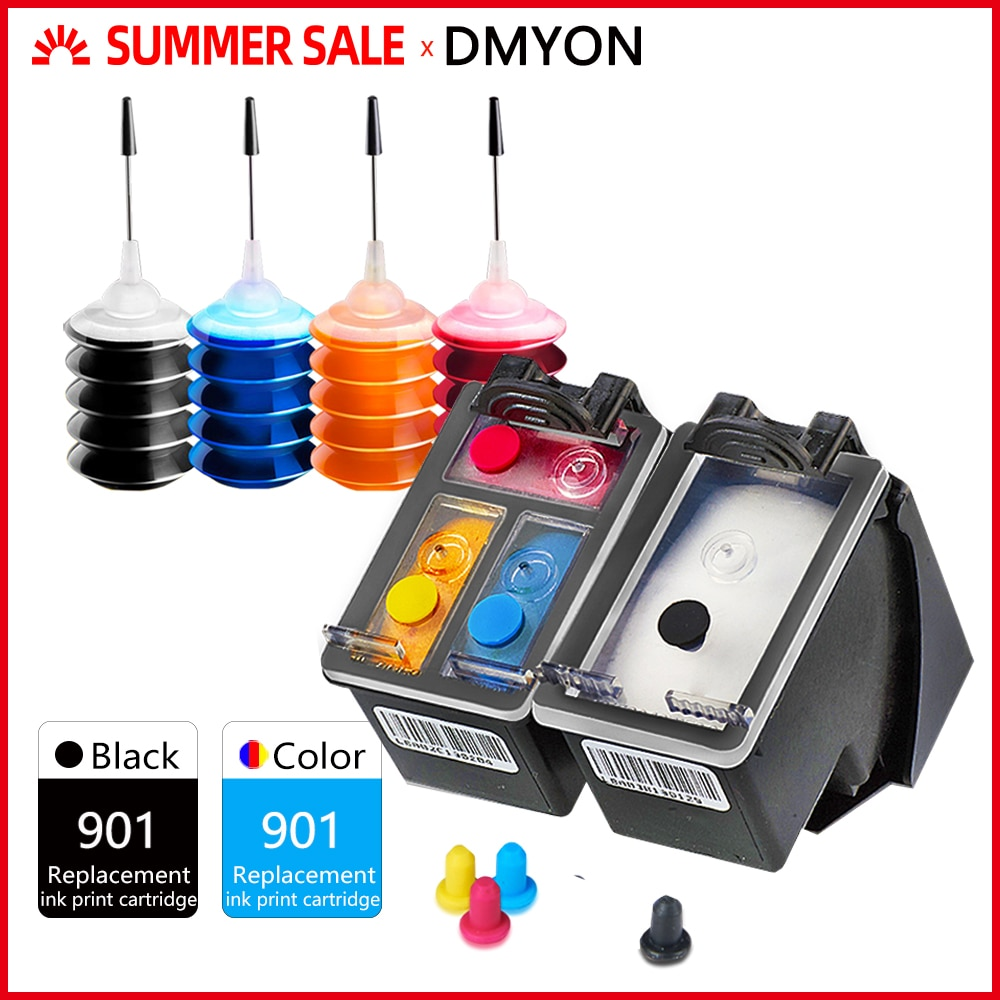 DMYON 901XL Ink Cartridge Replacement for Hp 901 Officejet 4500 J4500 J4535 J4540 J4550 J4580 J4585 J4624 J4640 J4680 Printer