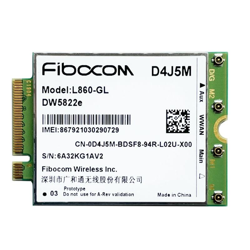 DW5822e L860-GL D4J5M 4G LTE Módulo 1Gbps Cat16 M.2 para dell Inspiron...