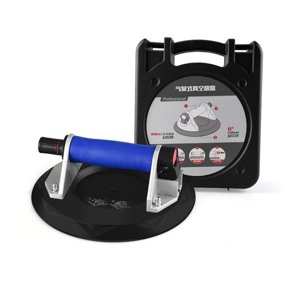 8 дюймов вакуумной присоской подъемник с чистый Медь/Пластик Ручка Heavy Duty вакуумные подъемники для Стекло Плитки Гранит подъема