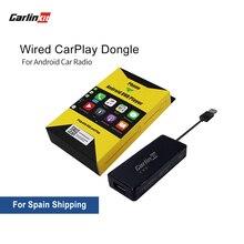 Carlinkit Apple CarPlay /Android Auto Carplay Dongle dla systemu Android ekran inteligentne łącze wsparcie Mirror-link IOS 13 Carplay