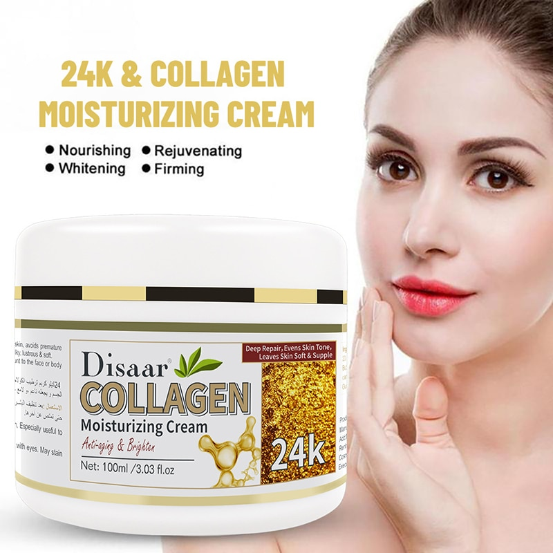 24K Collagen Anti Wrinkle Facial Cream Whitening Moisturizing Power Lifting Facial Brighten Skin Cream Skin Care 100ML