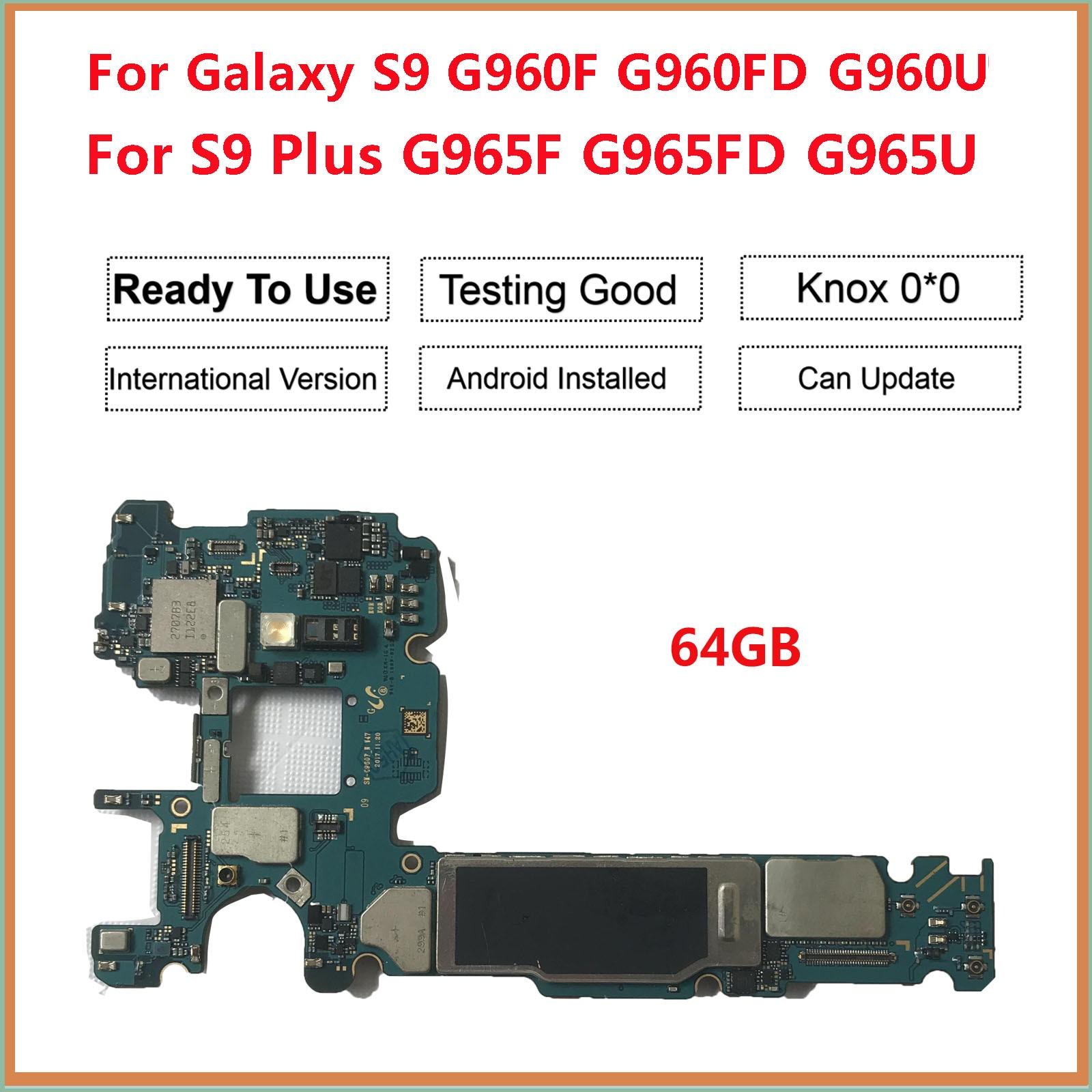 Placa-mãe para samsung galaxy s9 plus/s9 g965f g965fd g960f g960fd 64gb 128gb original desbloqueado android europa placa lógica