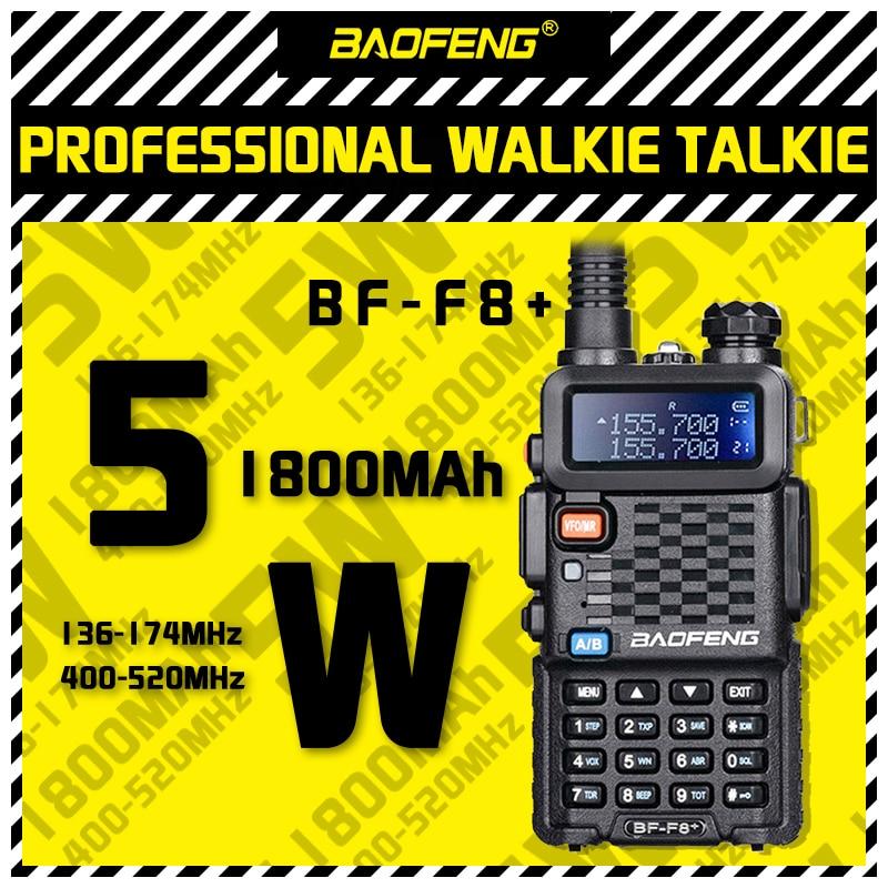 Новинка 2021, обновленная рация Baofeng BF-F8 +, дисплей 5 Вт, двухсторонняя Автомобильная радиостанция, портативная Любительская рация для охоты, Дв...