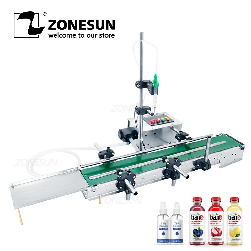 ZONESUN Automatic Intelligent Liquid Filling Machine Eyewash Perfume Water Small Bottle Filler Peristaltic Pump