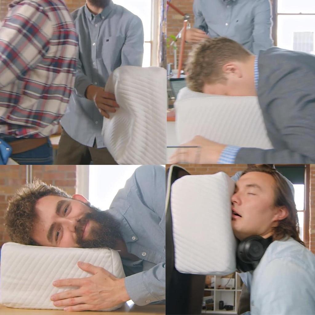 KXAAXS almohada para dormir lateral un colchón para almohada de cabeza diseñado cabeza proteger cubo Vertebral suave cubierta #804g40