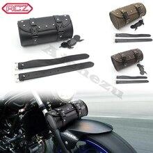 ACZ Retro Motorrad Sattel Taschen für Harley Universal Leder Motorrad Seite Werkzeug Gepäck