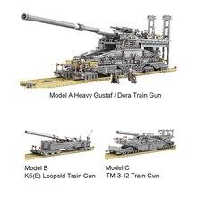 WW2 militaire 3846 pièces Schwerer Gustav/Dora bloc de construction 172 lourd Gustav léopold Train pistolet briques éducatives jouet garçon