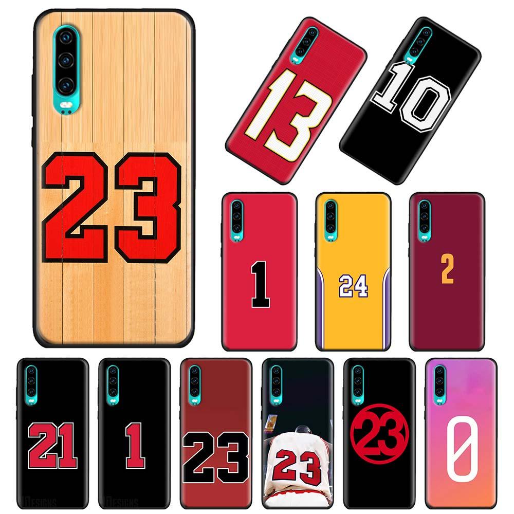 Funda blanda para Huawei P20 P30 P40 Pro + P Smart 2019 P10 P20 P30 P40 Lite TPU carcasa Coque Número de baloncesto