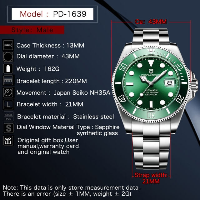 PAGANI DESIGN Mechanical Wristwatch 2