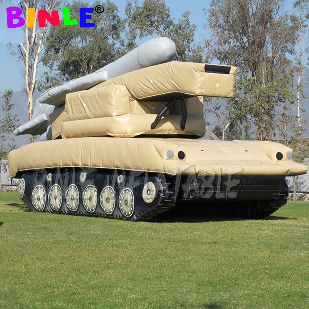 الحدث الإعلان بانزر خزان قابل للنفخ مع الرادار نفخ خزان الجيش للزينة/نموذج خزان المعرض