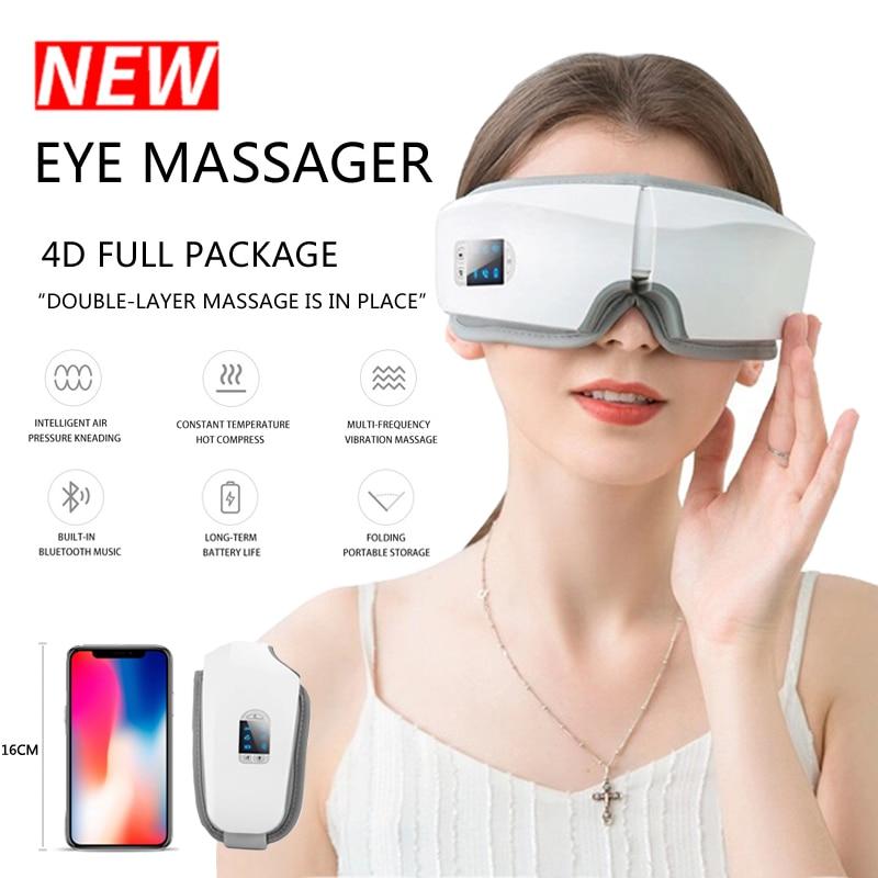Eye Massager 4D Smart Airbag Vibration Eye Care Instrument Hot Compress Bluetooth Eye Massage Glasse