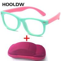 Детские очки HOOLDW с сисветильник для мальчиков и девочек, компьютерные прозрачные антибликовые очки с защитой от ультрафиолета, детские опт...